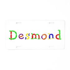 Desmond Balloons Aluminum License Plate