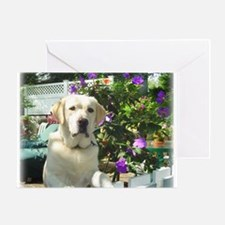 Yellow Lab Bogart's Greeting Card