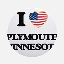 I love Plymouth Minnesota Ornament (Round)