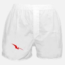 Pterodactyl Silhouette (Red) Boxer Shorts