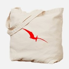 Pterodactyl Silhouette (Red) Tote Bag