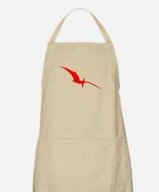 Pterodactyl Silhouette (Red) Apron