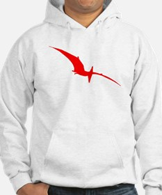 Pterodactyl Silhouette (Red) Hoodie