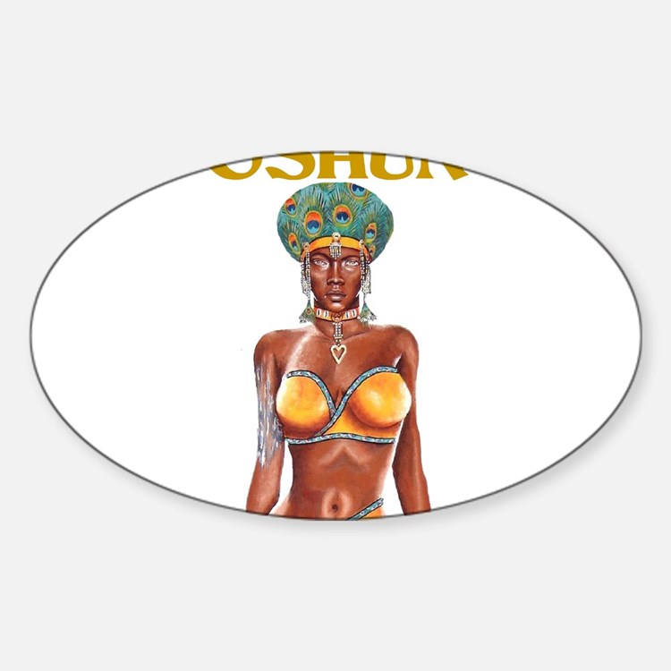 Cute River goddess Sticker (Oval)