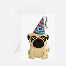 15th Birthday Pug Greeting Cards (pk Of 20)