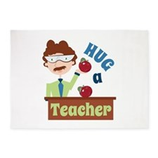 Hug A Teacher 5'x7'Area Rug
