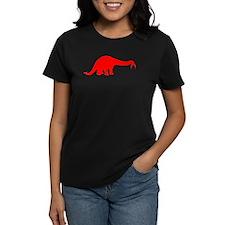 Brachiosaurus Silhouette (Red) T-Shirt