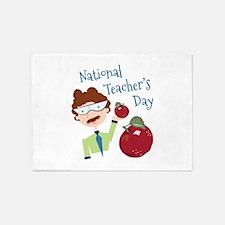 National Teacher's Day 5'x7'Area Rug