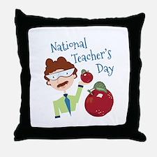 National Teacher's Day Throw Pillow