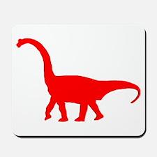 Brachiosaurus Silhouette (Red) Mousepad