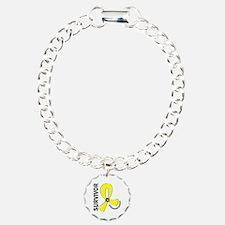 Osteosarcoma Survivor 12 Charm Bracelet, One Charm