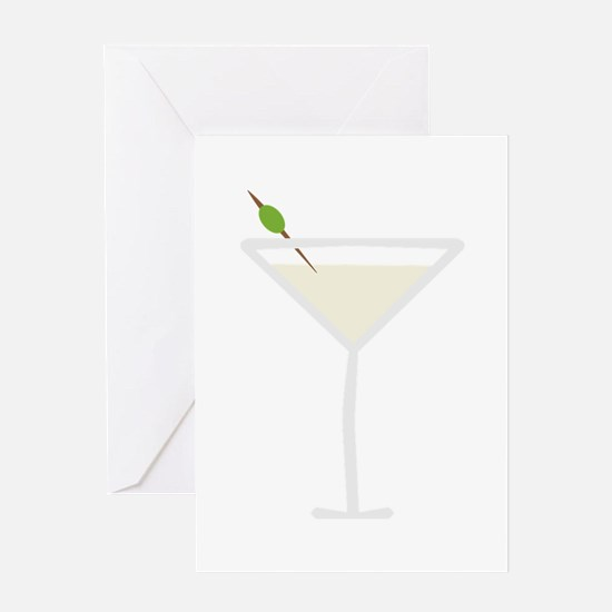 Martini Greeting Cards