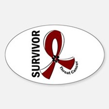 Throat Cancer Survivor 12 Sticker (Oval)