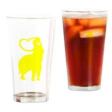 Mammoth Silhouette (Yellow) Drinking Glass