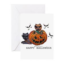 Cairn Terrier Halloween Greeting Cards