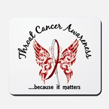Throat Cancer Butterfly 6.1 Mousepad