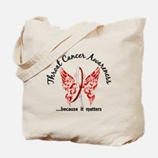 Throat Cancer Butterfly 6.1 Tote Bag