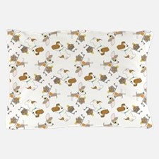 SHOPPING DOGS Pillow Case