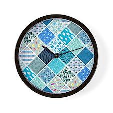 Cute Navy blue Wall Clock