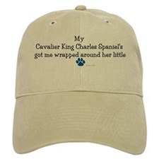 Wrapped Around Her Paw (Cavalier) Baseball Cap