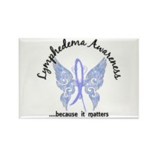 Lymphedema Butterfly 6.1 Rectangle Magnet