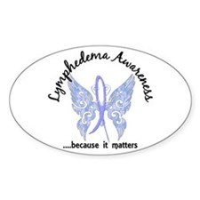Lymphedema Butterfly 6.1 Decal