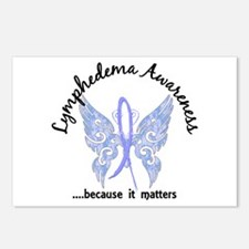 Lymphedema Butterfly 6.1 Postcards (Package of 8)