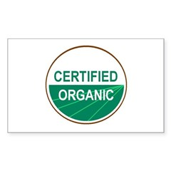 CERTIFIED ORGANIC Rectangle Decal