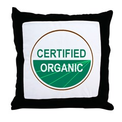 CERTIFIED ORGANIC Throw Pillow