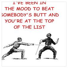 fencing joke Poster