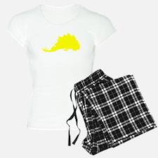Stegosaurus Silhouette (Yellow) Pajamas