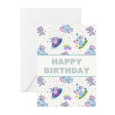 BIRTHDAY ELEPHANT Greeting Cards (Pk of 20)