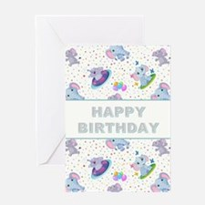 BIRTHDAY ELEPHANT Greeting Card