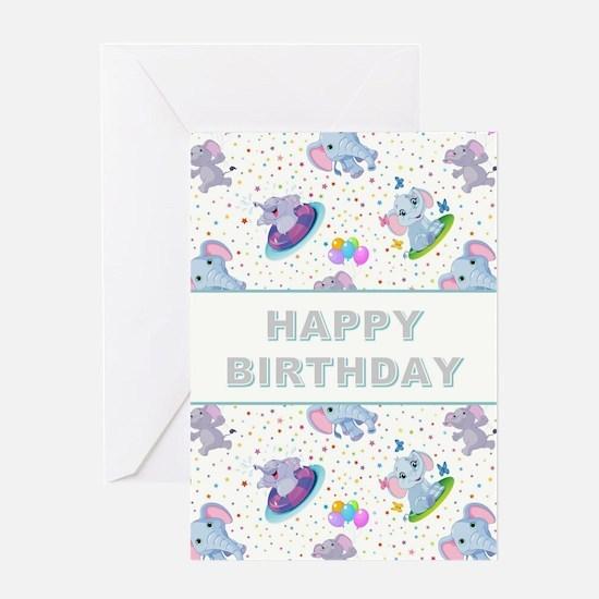 BIRTHDAY ELEPHANT Greeting Card