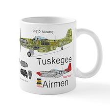 P-51 Mustang Tuskegee Airmen Red Tails Mug Mugs