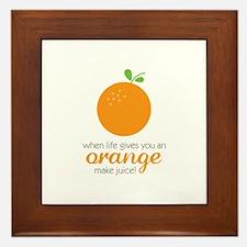 Make Juice Framed Tile