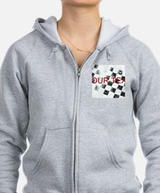 Checkered Flag Zip Hoodie