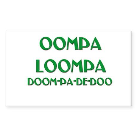 OOMPA LOOMPA Rectangle Sticker
