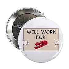 RED STAPLER HUMOR Button