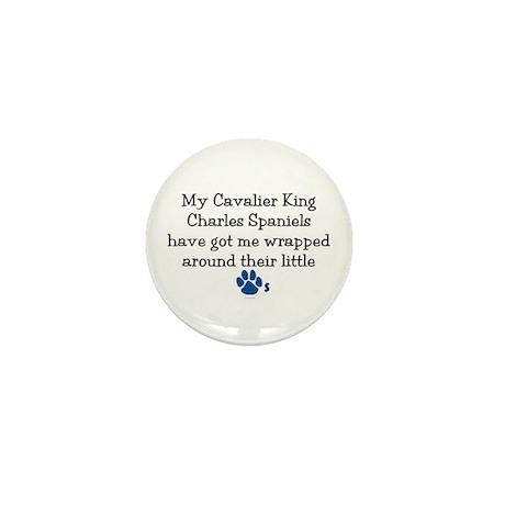 Wrapped Around Their Paws (Cavalier) Mini Button (