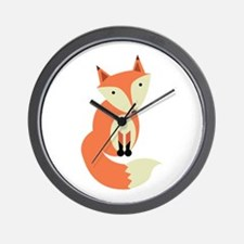 Red Fox Wall Clock