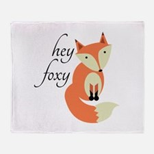 Hey Foxy Throw Blanket
