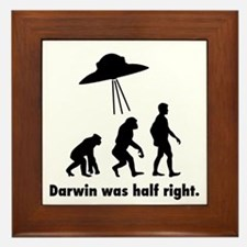 Darwin Was Half Right. Framed Tile