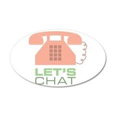 Let's Chat Wall Decal