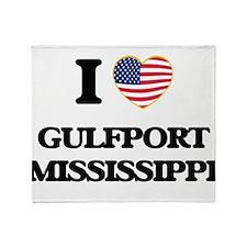 I love Gulfport Mississippi Throw Blanket