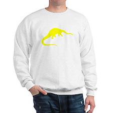 Diplodocus Silhouette (Yellow) Sweatshirt