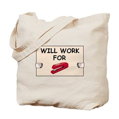 RED STAPLER HUMOR Tote Bag