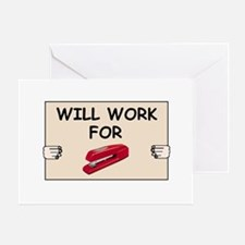 RED STAPLER HUMOR Greeting Card