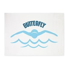 Butterfly 5'x7'Area Rug