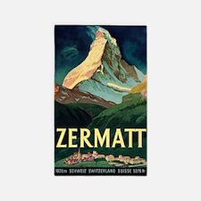 Zermatt, Switzerland Vintage Travel Poster Area Ru
